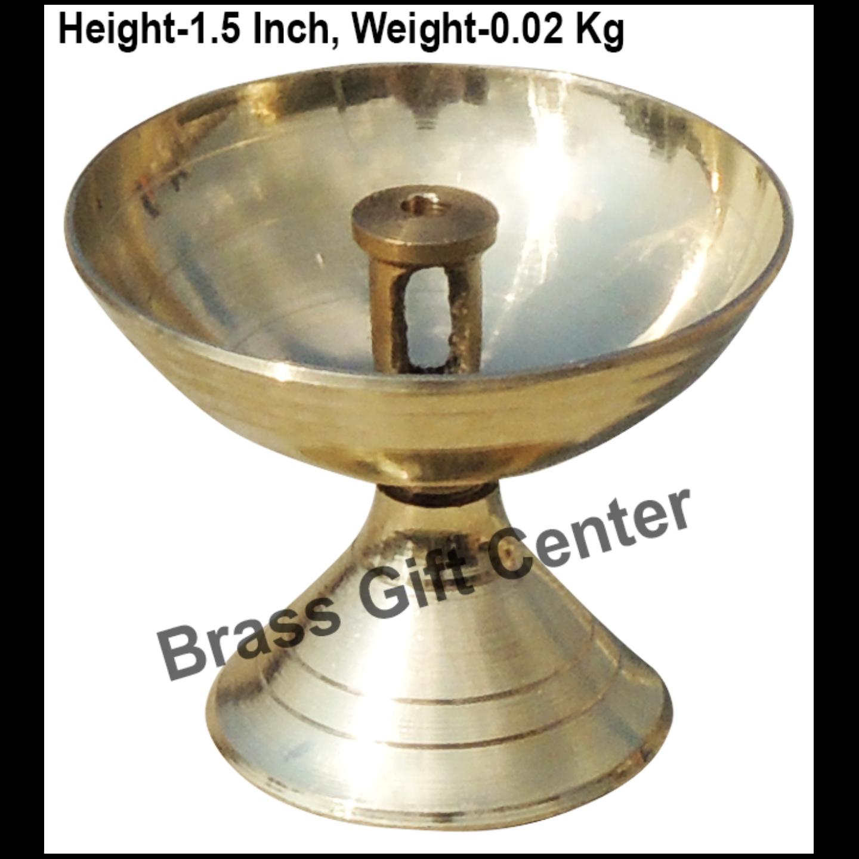 Brass Piyali Deepak Diya - 1.8*1.8*1.5 inch (F645 A)