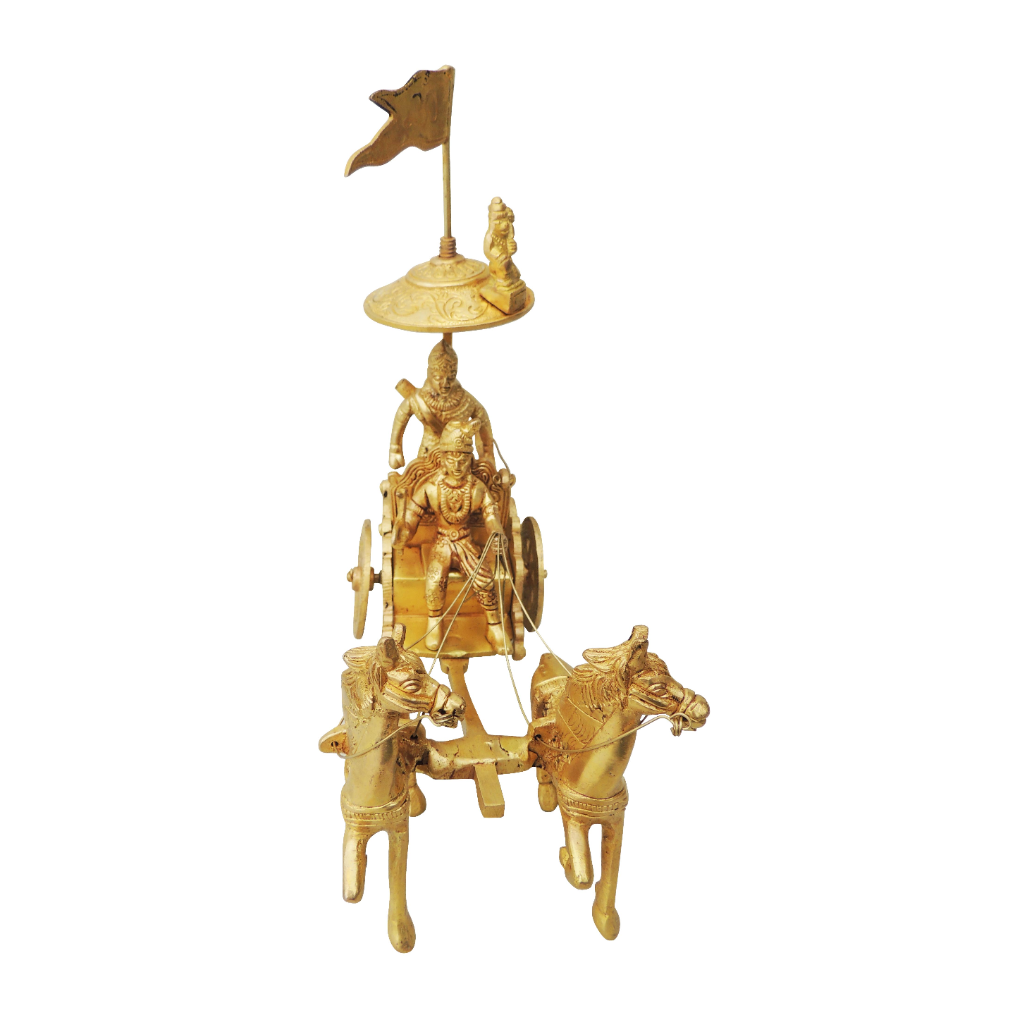 Brass Showpiece Arjun Rath - 8.5 Inch (BS070 B)