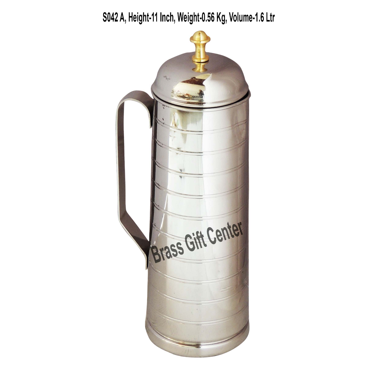 Stainless Steel Jug 1 Liter - 3.5x3.5x11.5  S042 A
