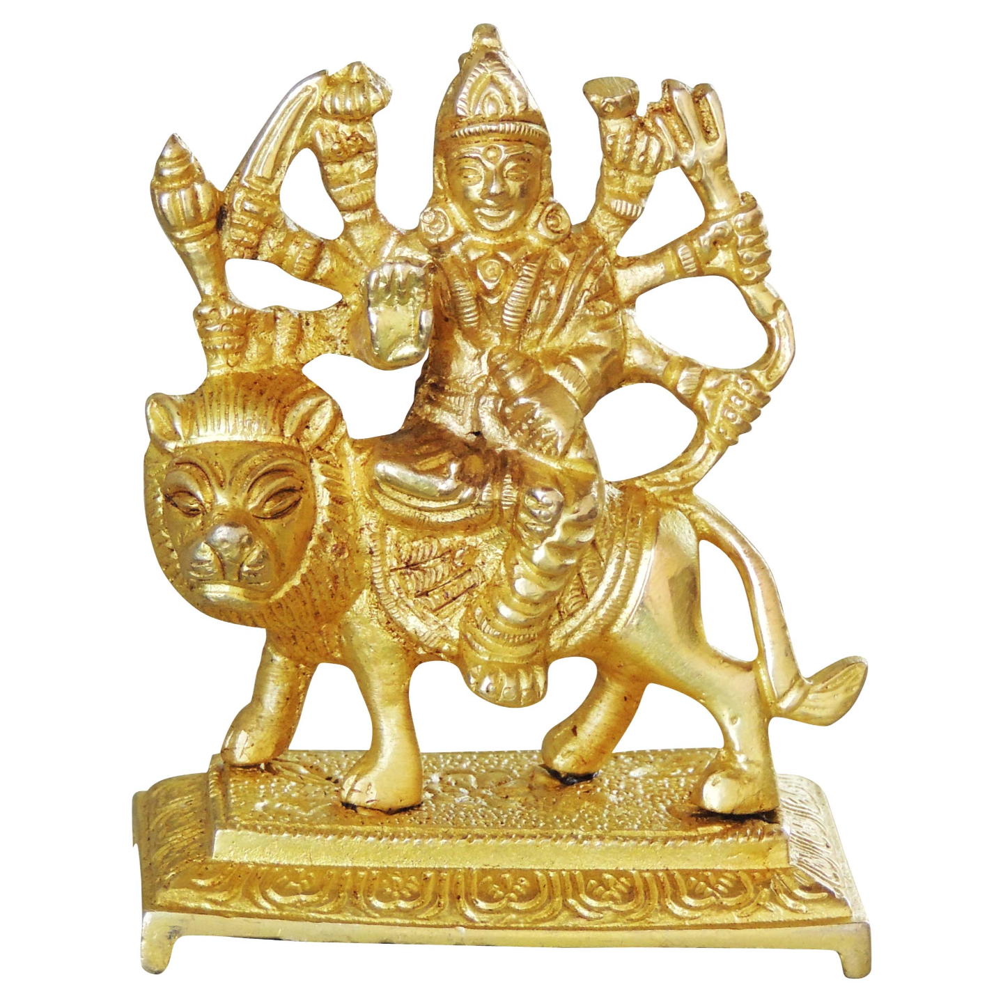 Brass Durgaji Small In Natural Brass Finish - 3.5 inch (BS1044 D)