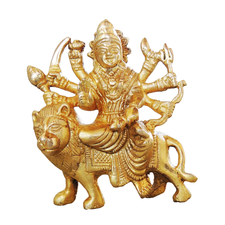 Brass Durga ji Statue Murti idol 500 gm - 2.5*1*4 inch  (BS1028 A)