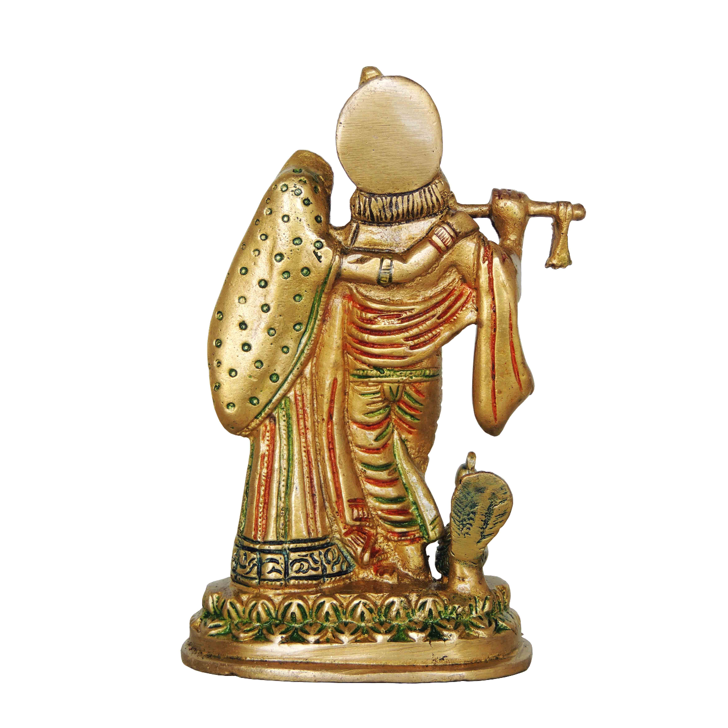 Brass Radha Krishna Statue Murti In Multicolour Lacquer Finish - 6 Inch  (BS399 G)