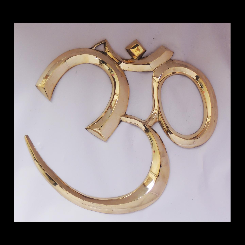 Brass Wall Hanging Om - 1614  Inch  F657 G