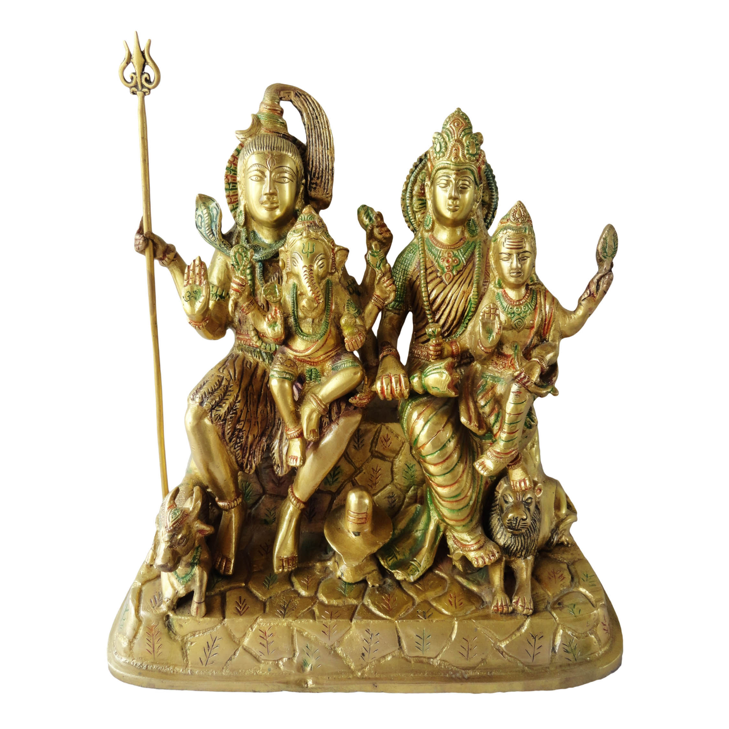 Brass Showpiece Shiv Parivar - 12 Inch (BS126)