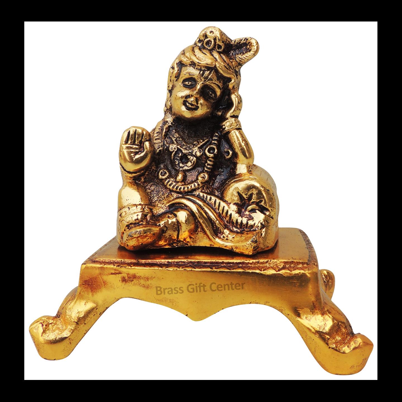 Showpiece Laddu Gopal With Gold Finish - AS365 G
