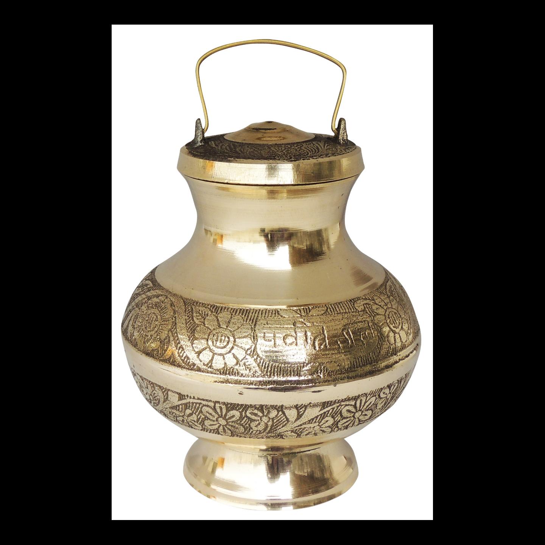 Brass Ganga Jali Ganga JAL Patra No. 3 900 ml - 5.5*5.5*8 Inch  (Z200 N)