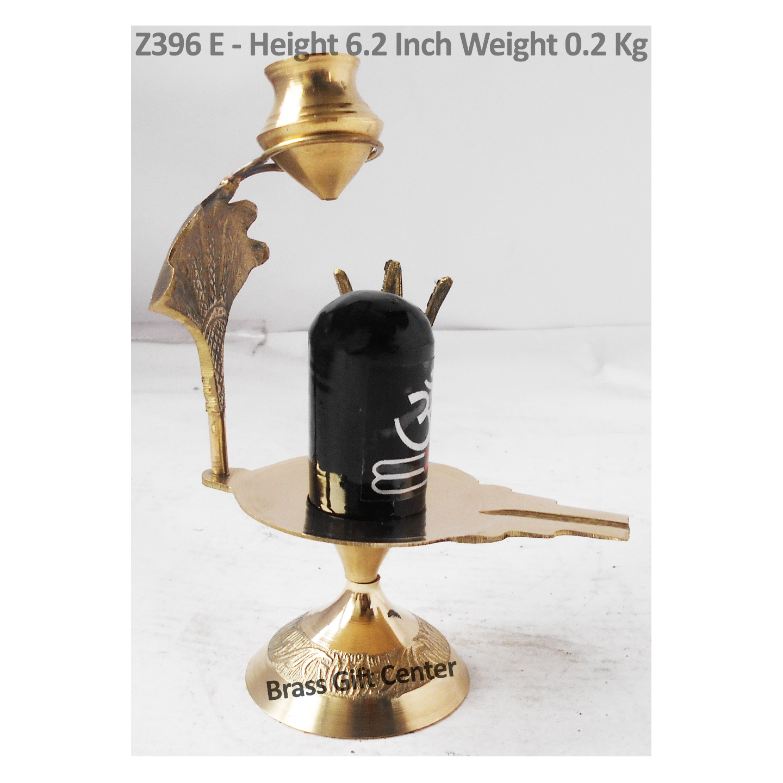Brass Showpiece Shivling God Idol With Brass & Meena Finish Height 6.2 Inch (Z396 E)
