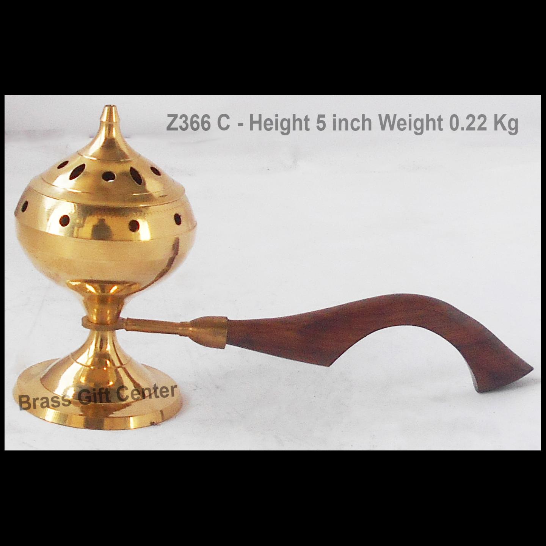 Brass Luab Dan Incense Burner - 9*3*5 Inch (Z366 C)