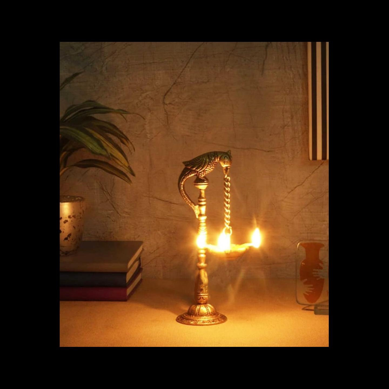 Brass Showpiece Cock (Murga) Deepak - 6.3 Inch (BS1228 C)
