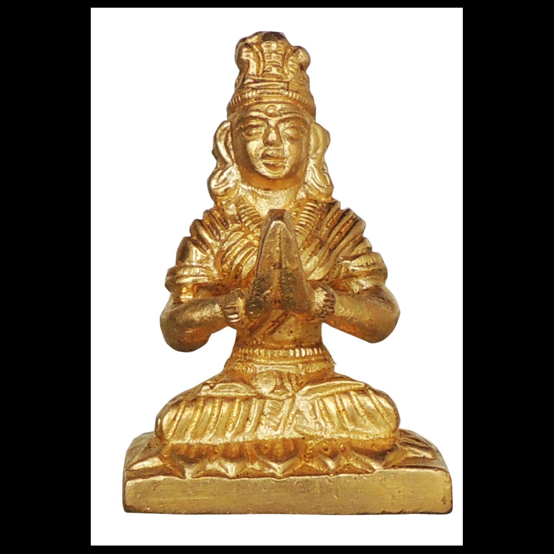 Brass Parvati Statue Murti - 2.3 inch BS872 A