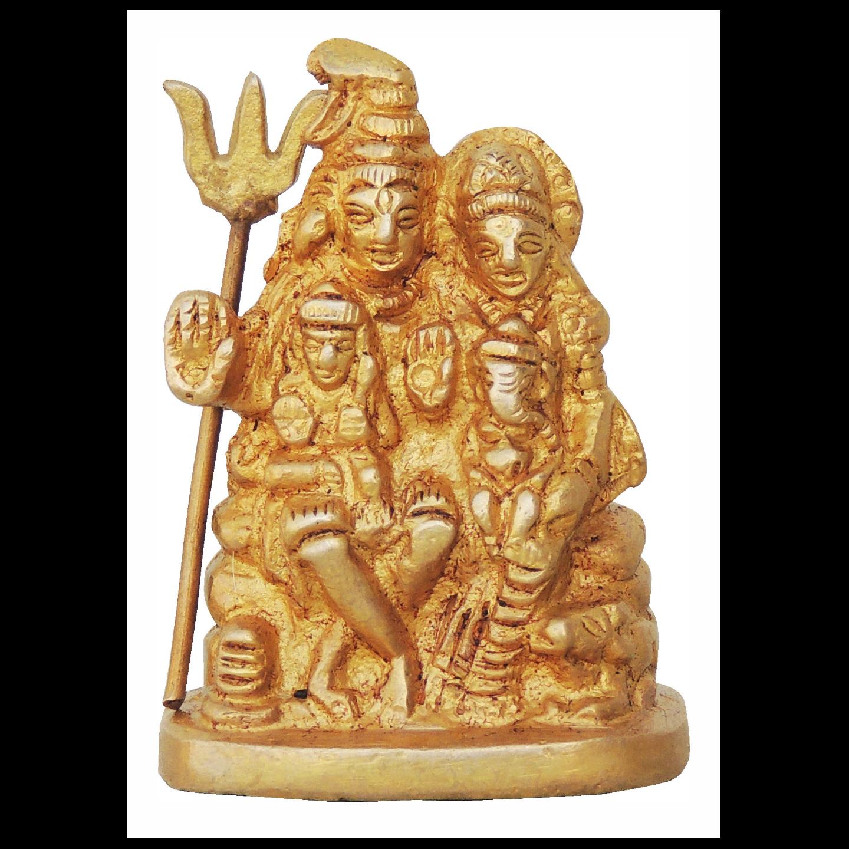 Brass Shiv parivaar Statue Murti Idol - 2*1*2.5 inch Inch  (BS760 A)
