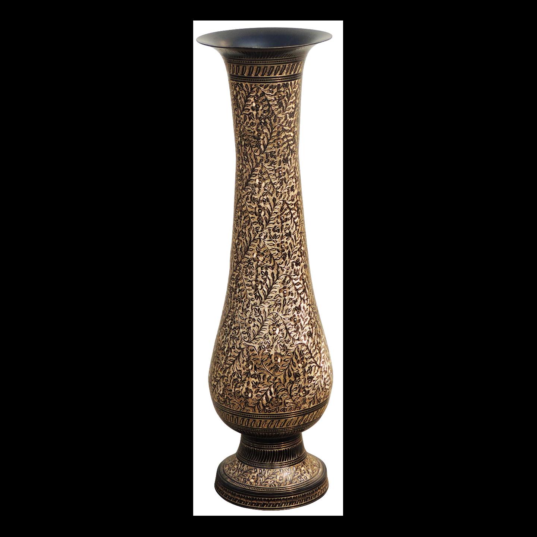 Brass Coloured Flower Vase with handwork - 6.76.724 Inch  F60124