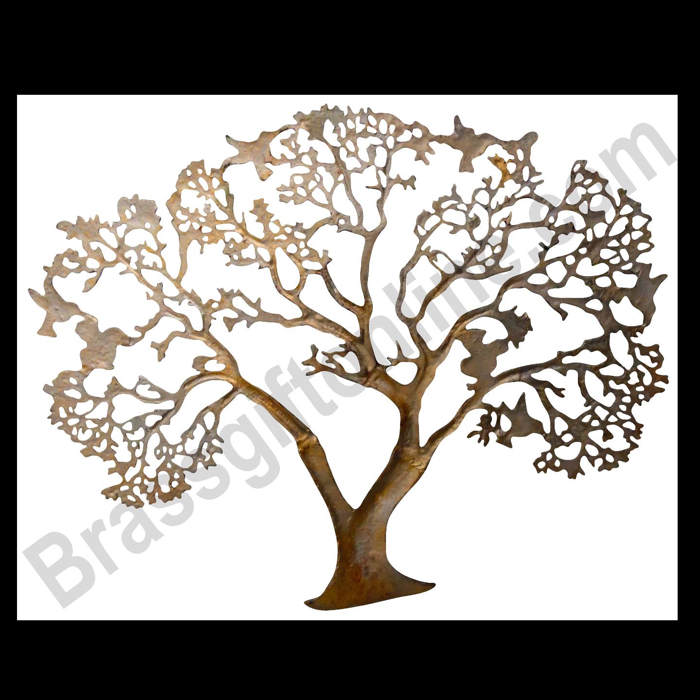 Wall Decorative Aluminium Tree - 31 Inch  Z046 E