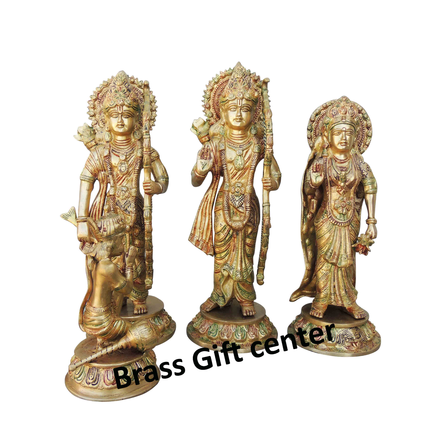 Brass Ram Dharbar Statue Idol Murti Multicolour  lacquer finish - 15.5*9.5*15.3 Inch  (BS827 A)