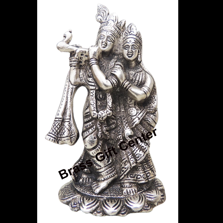 Radha Krishna Silver Antique Finish- 4.4*3*7.5 Inch (AS242 S)