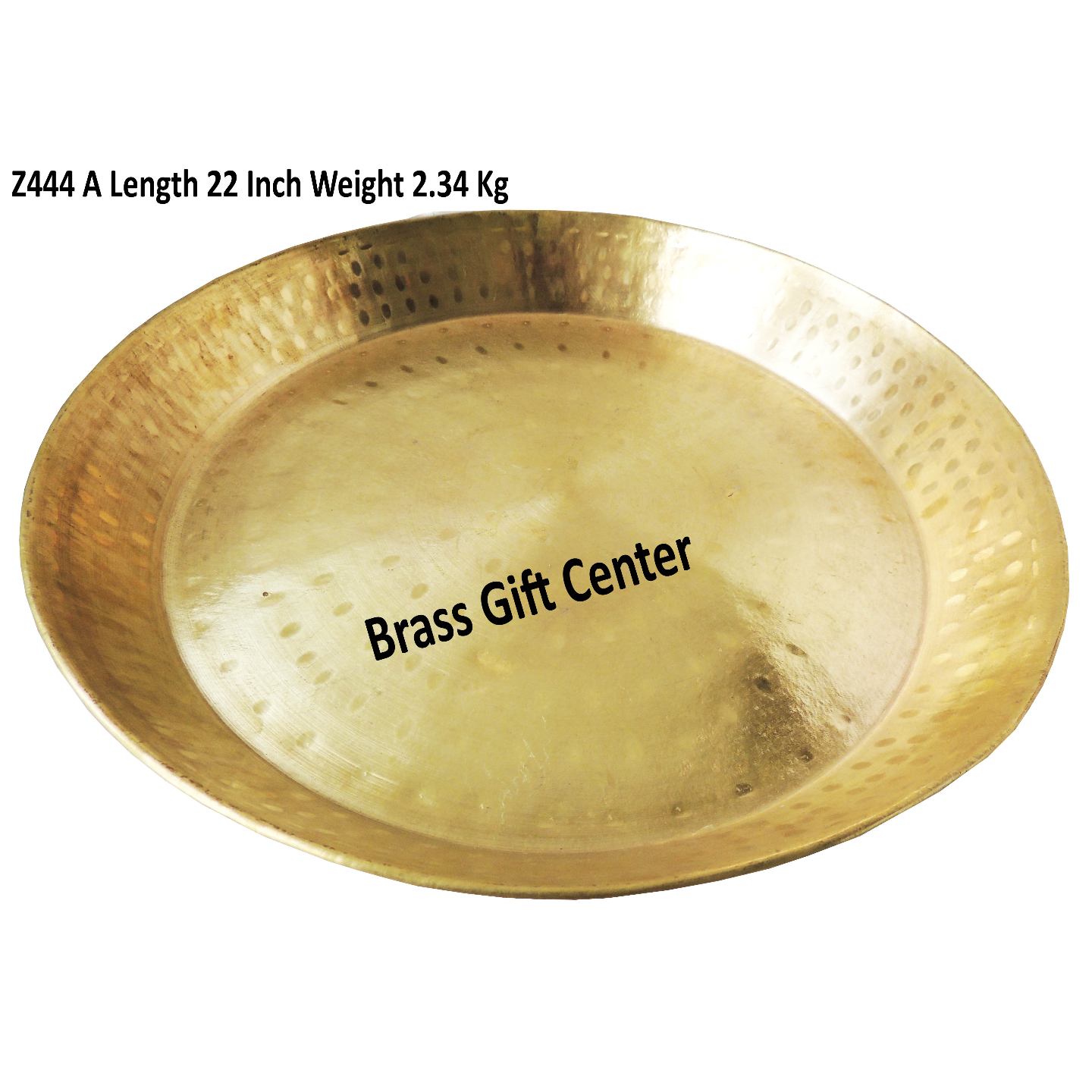 Brass Thaal With Brass Finish Diameter 22 Inch Z444 A