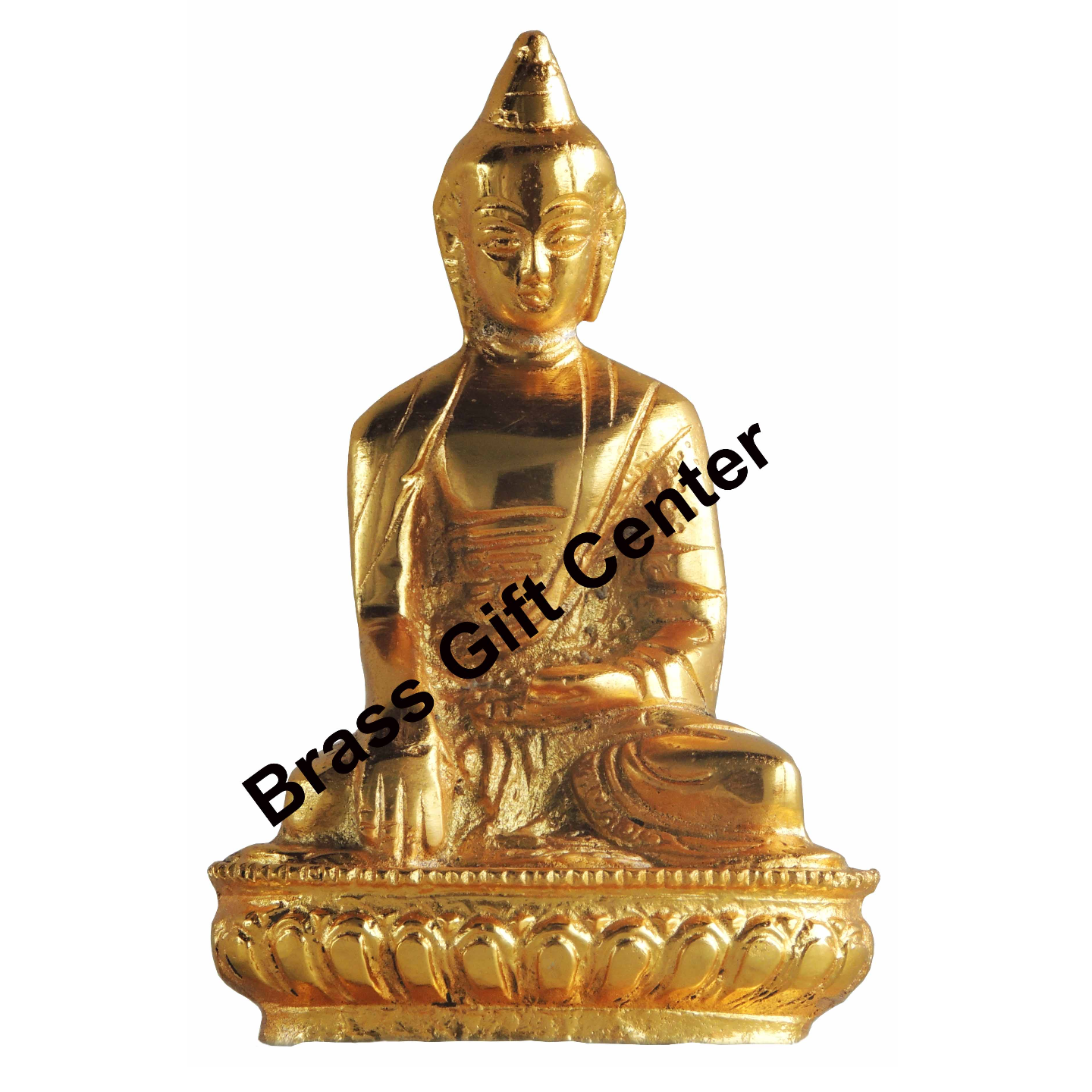 Aluminium Buddha Statue Murti Idol Gold finish - 3.5*2.6*6 Inch (AS220 G)