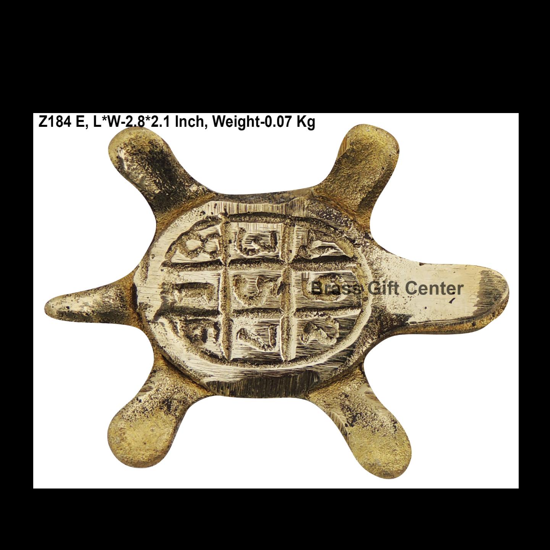 Brass Kachua Torotoise No. 2 Fenshui Vastu Items - 2.82.10.8 Inch  Z184 E