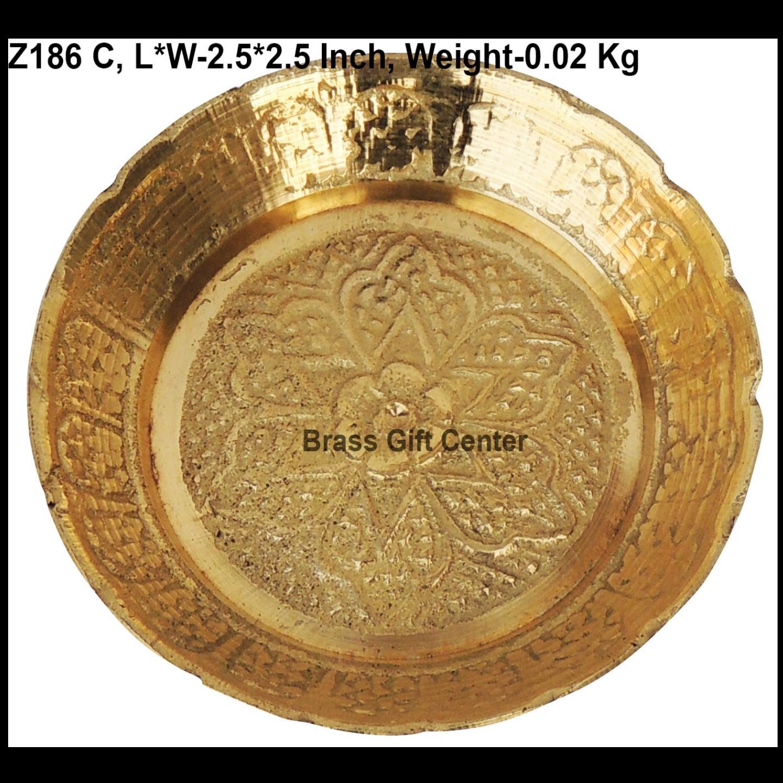 Brass Kachua [Tortoise] Plate No. 1 - 2.5*2.5 Inch  (Z186 C)