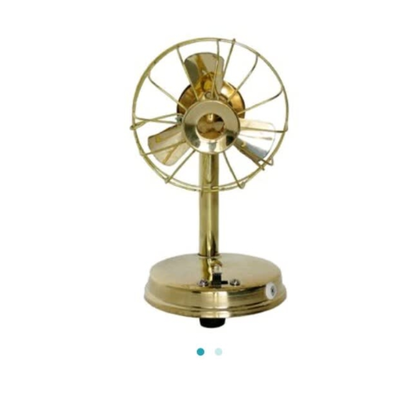 Brass Fan For Laddu Gopal And Children Playing Toy -4*4*7 Inch  (F009)