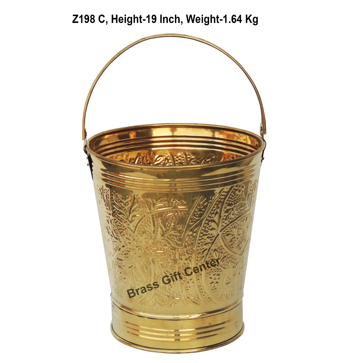 Brass Bucket Balti - 11.7*11.7 Inch  (Z198 C)
