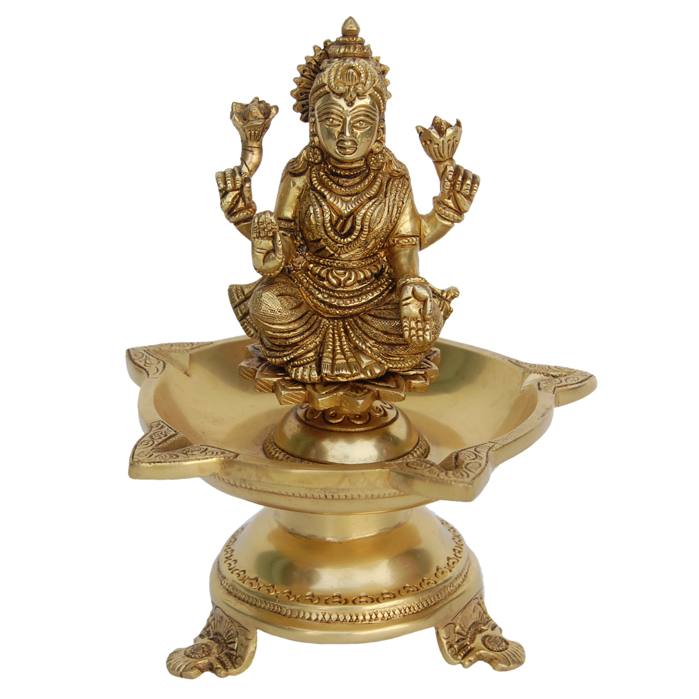 Laxmi Brass Deepak, Oil Lamp - 8 Inch (BS1181 A)