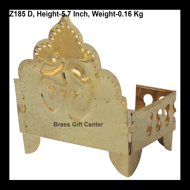 Brass God Idol Singhasan Sheet No. 4 - 5.7 inch (Z185 D)