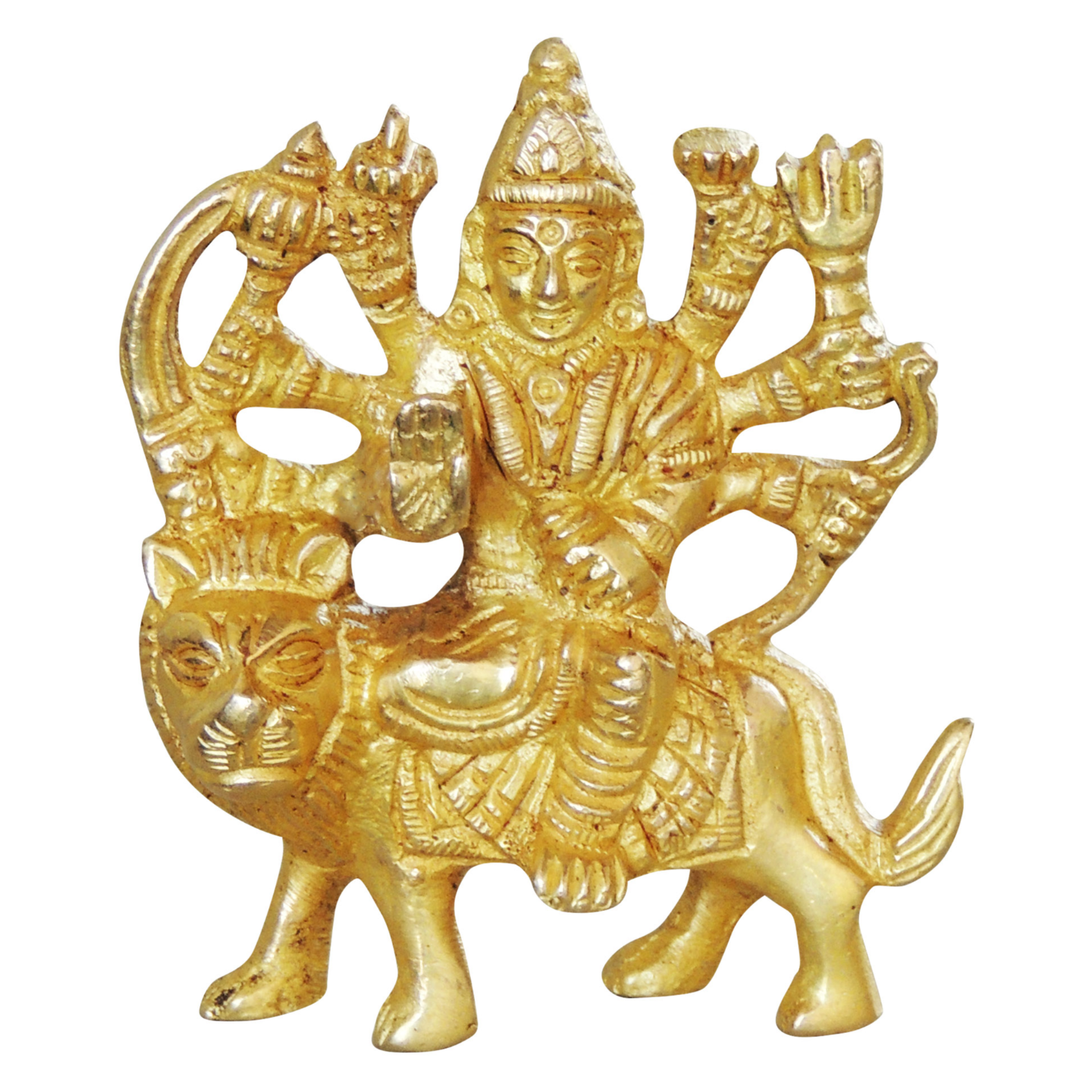 Brass Durgaji Small In Natural Brass Finish - 3 inch (BS1044 C)