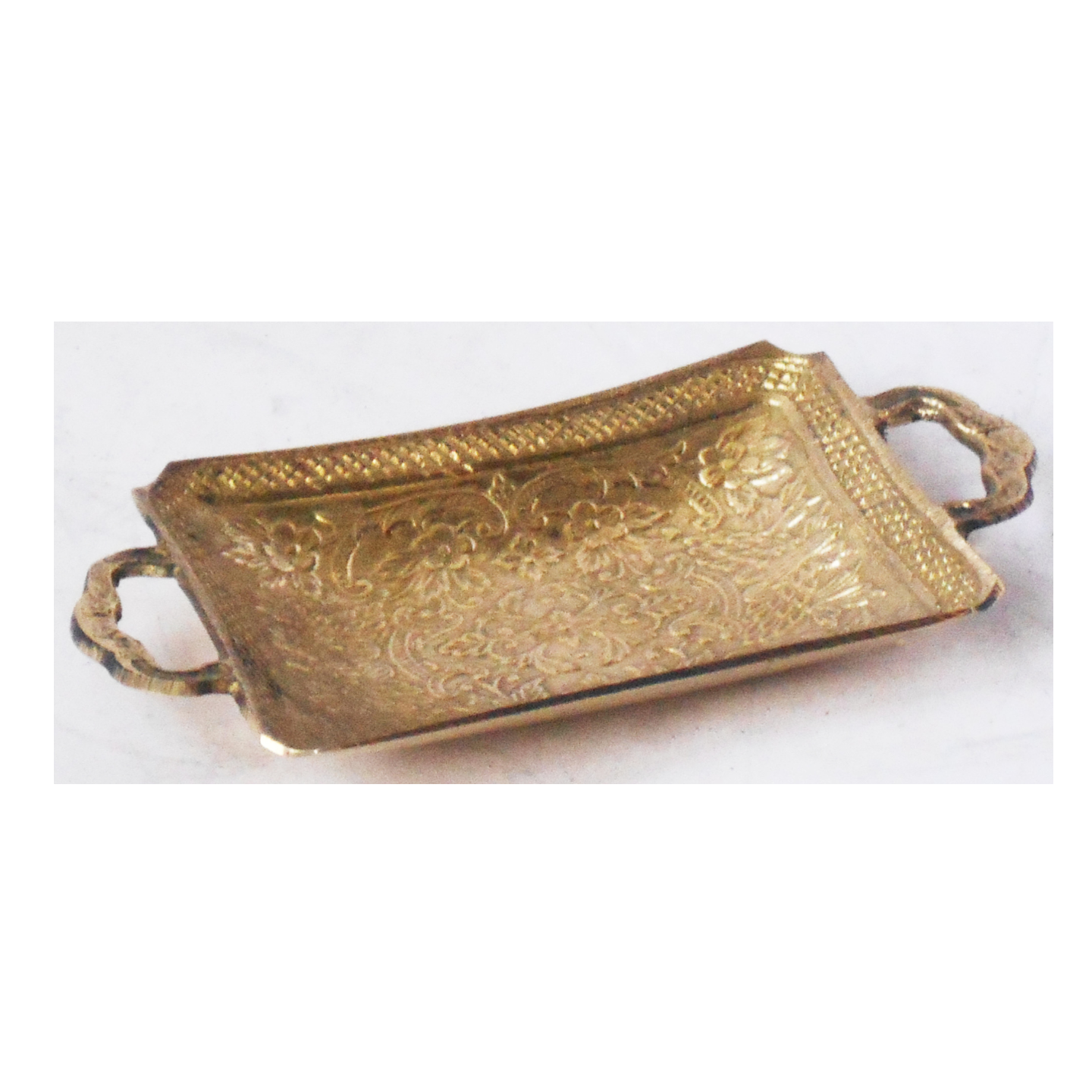 Brass Miniature Tray Toy for Children Playing- 530.5 Inch Z374 C
