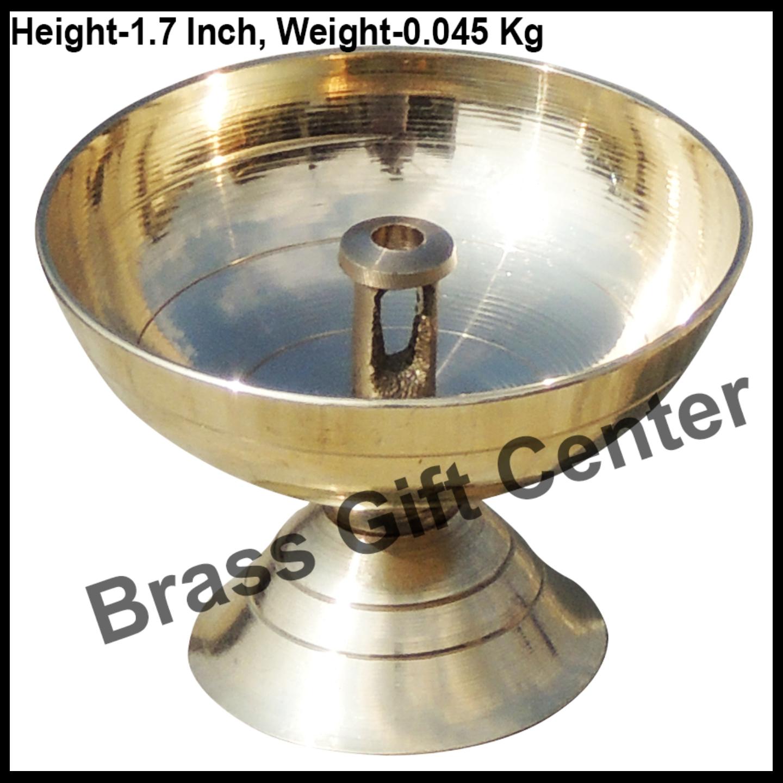 Brass Piyali Deepak Diya - 2.4*2.4*1.7 inch (F645 C)