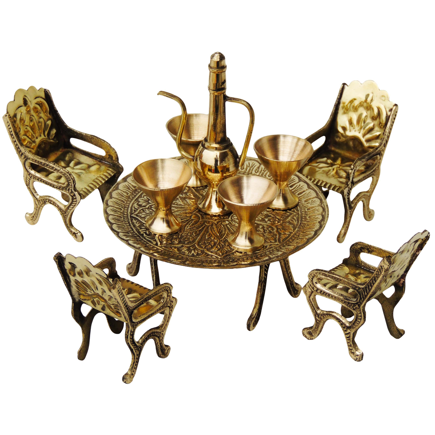 Brass Mini Miniature Dining Table set for Children playing (F484 A)