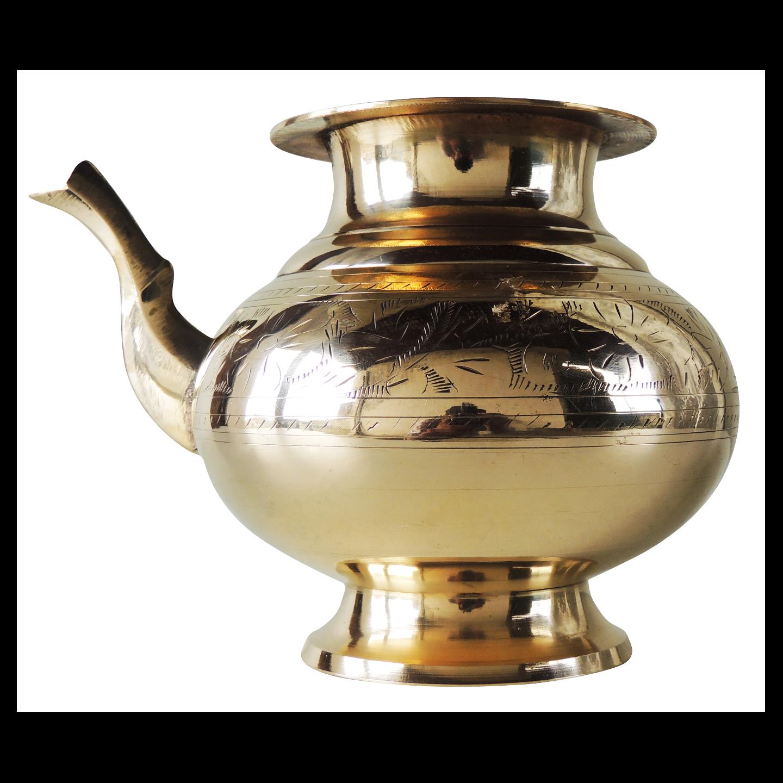 Brass Karwa Lota - 8 inch, 1.3 Liter Z470 D