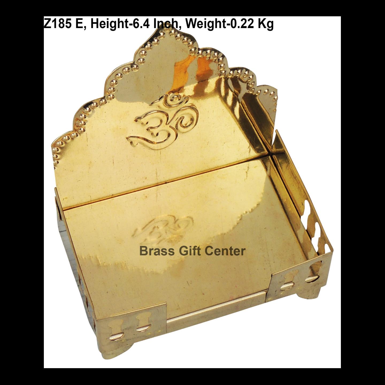 Brass God Idol Singhasan Sheet No. 5 - 6.4 inch (Z185 E)
