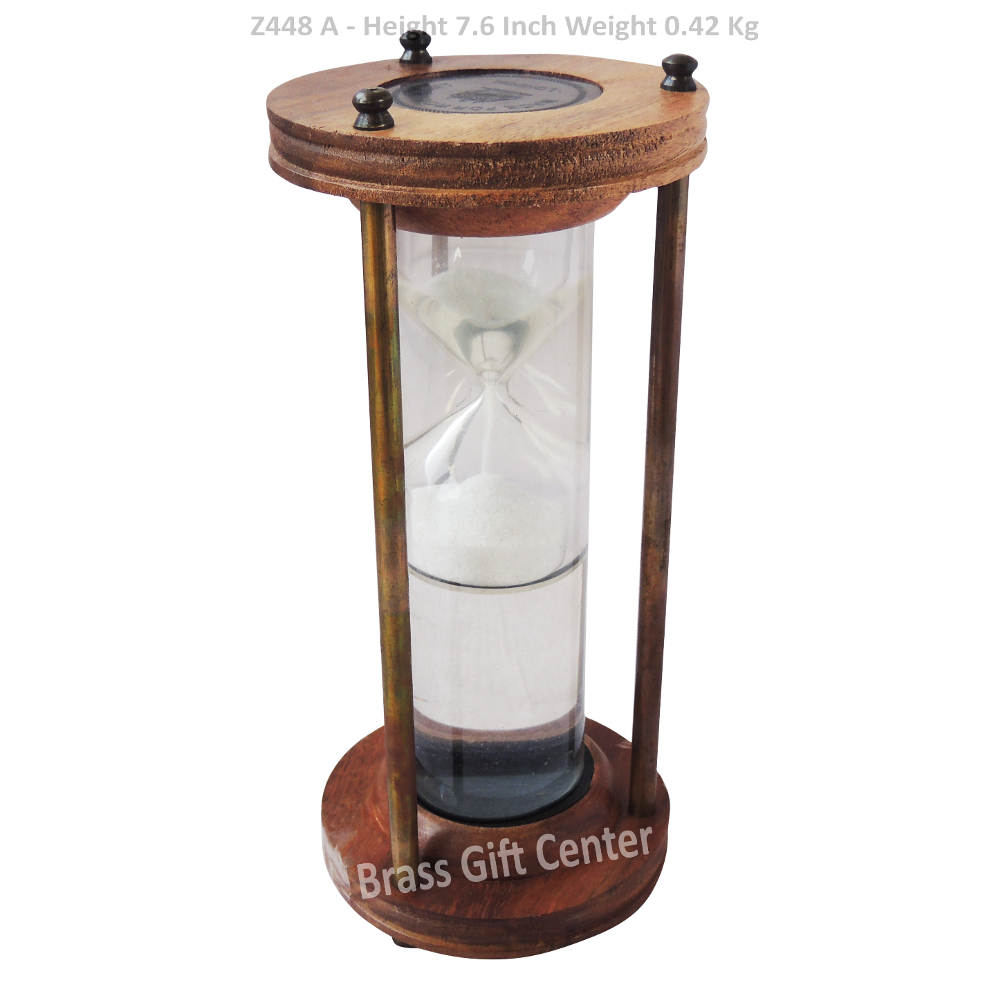 Brass Showpiece Sand Timer - 7.6 Inch (Z448 A)