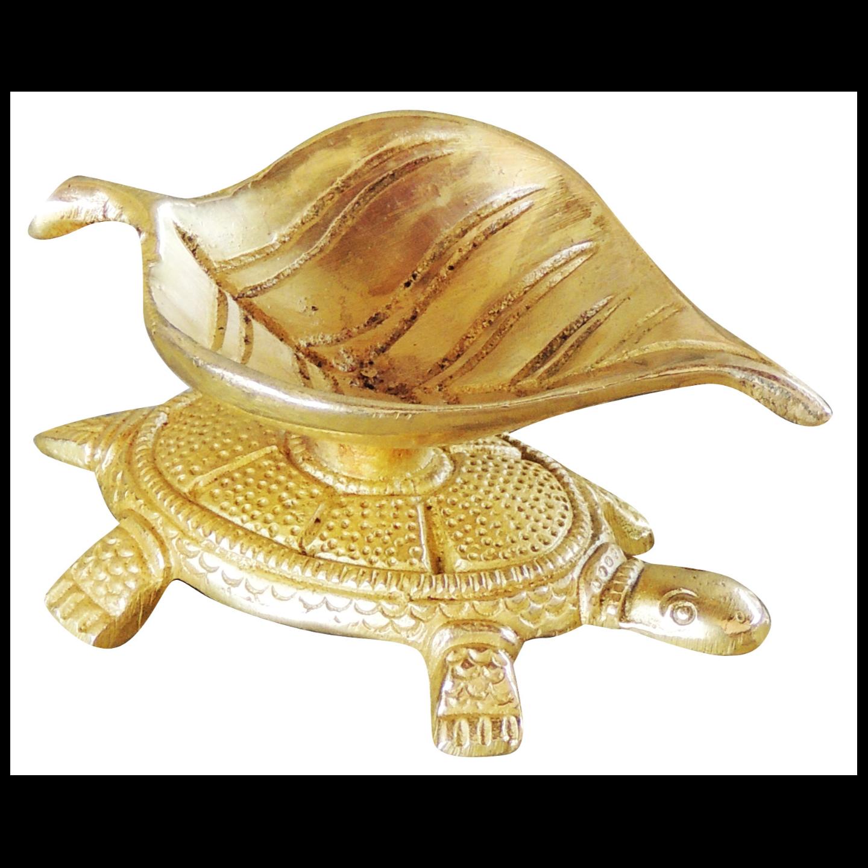 Brass Kachua Deepak 115 gm - 3.21.91.3 Inch  BS1056 B