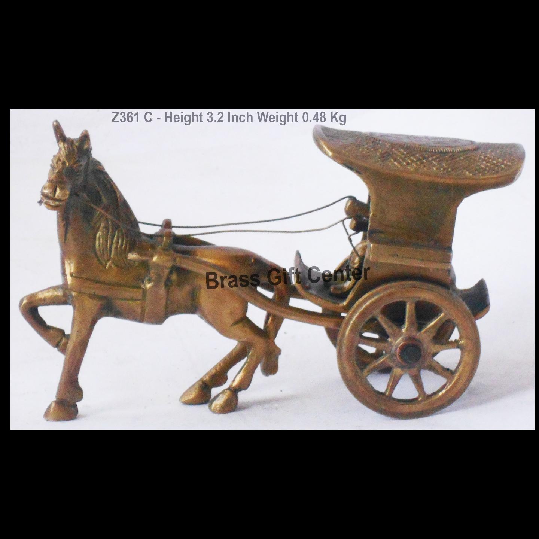 Brass Horse Cart Goda Gaddi - 6.3*3*3.2 Inch (Z361 C)