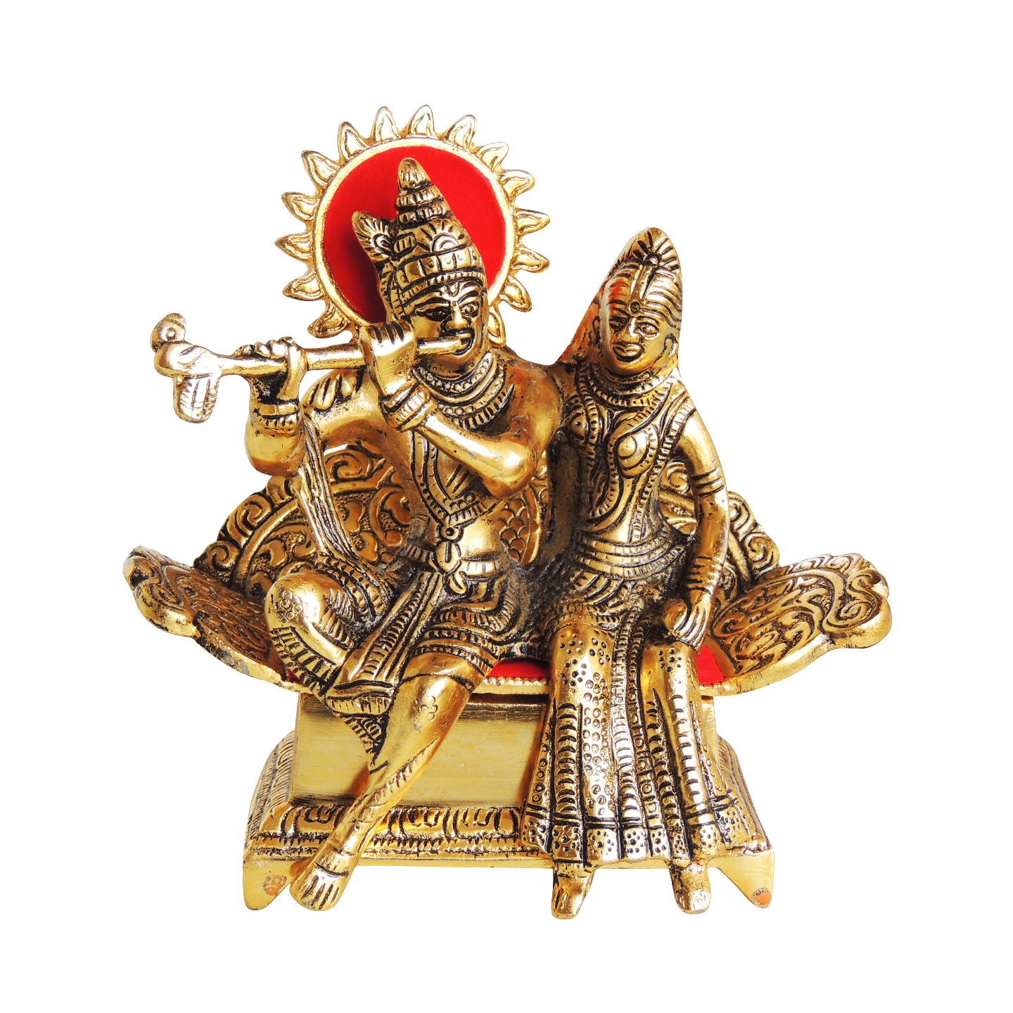 Showpiece Radha Krishna Statue - 7.5 Inch AS383 G