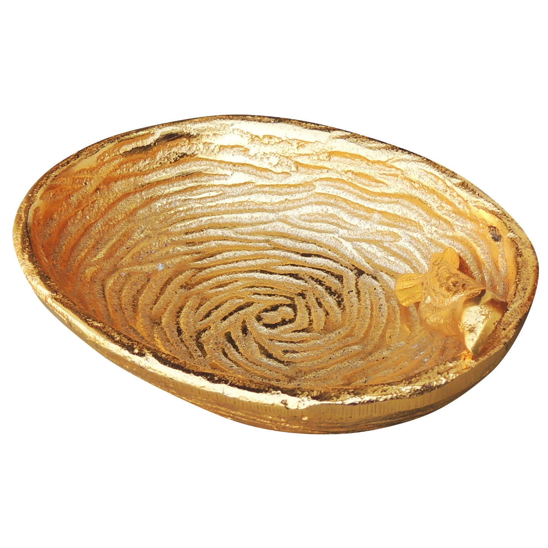 Aluminiun Gold Lacquered Bowl - 5.23.9 Inch A91955.5
