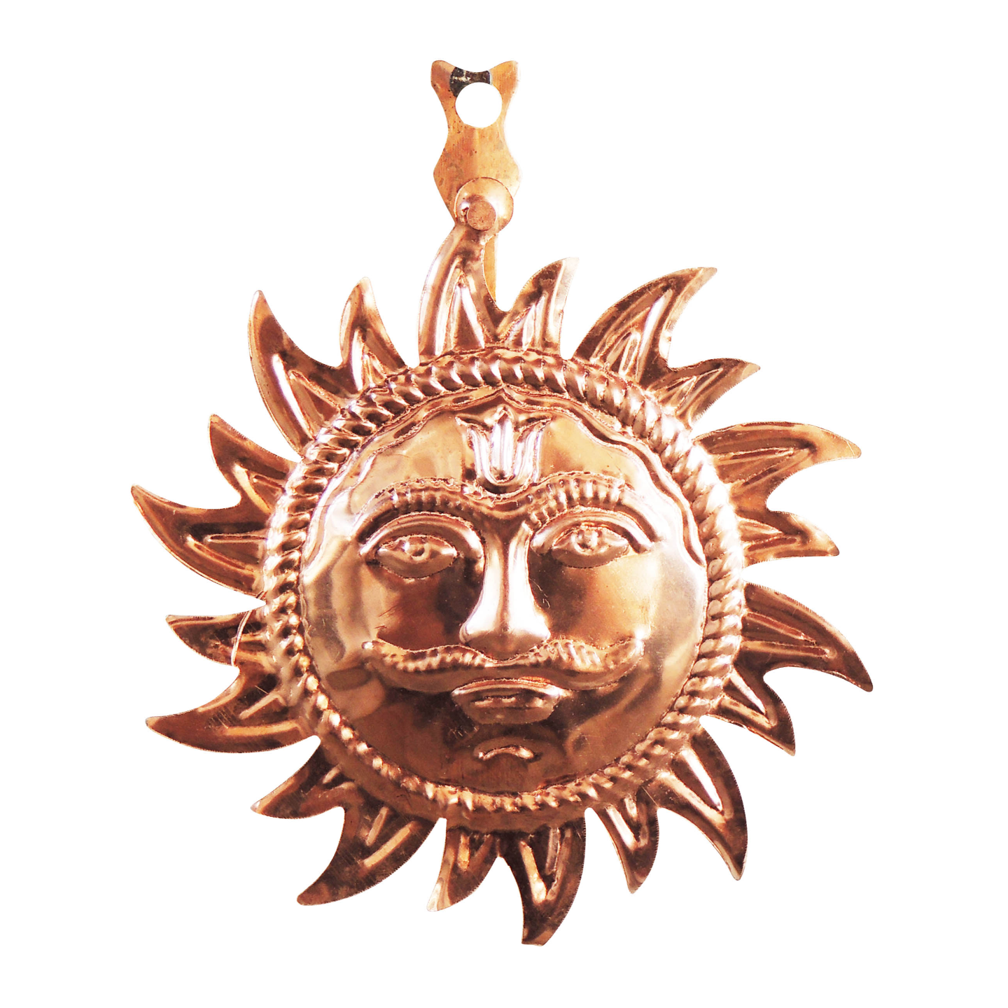 Copper Metal Wall Hanging Sun With Copper Finish - 5 Inch (Z219 C)