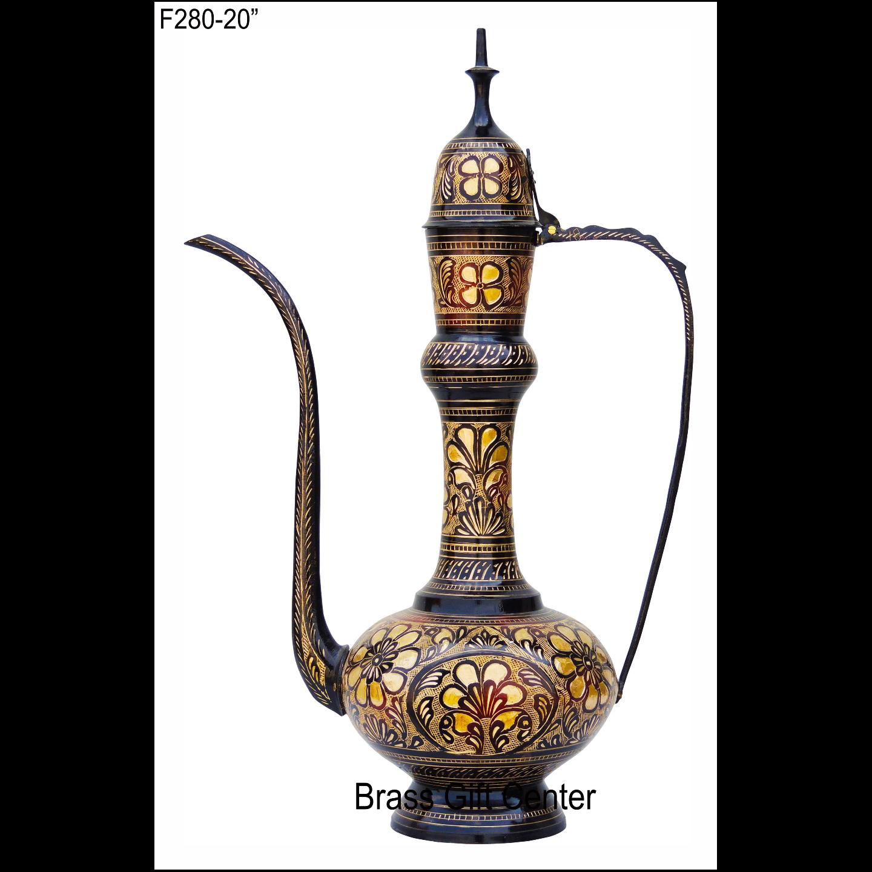 Brass Aftaba Surahi- 20 Inch  (F280)