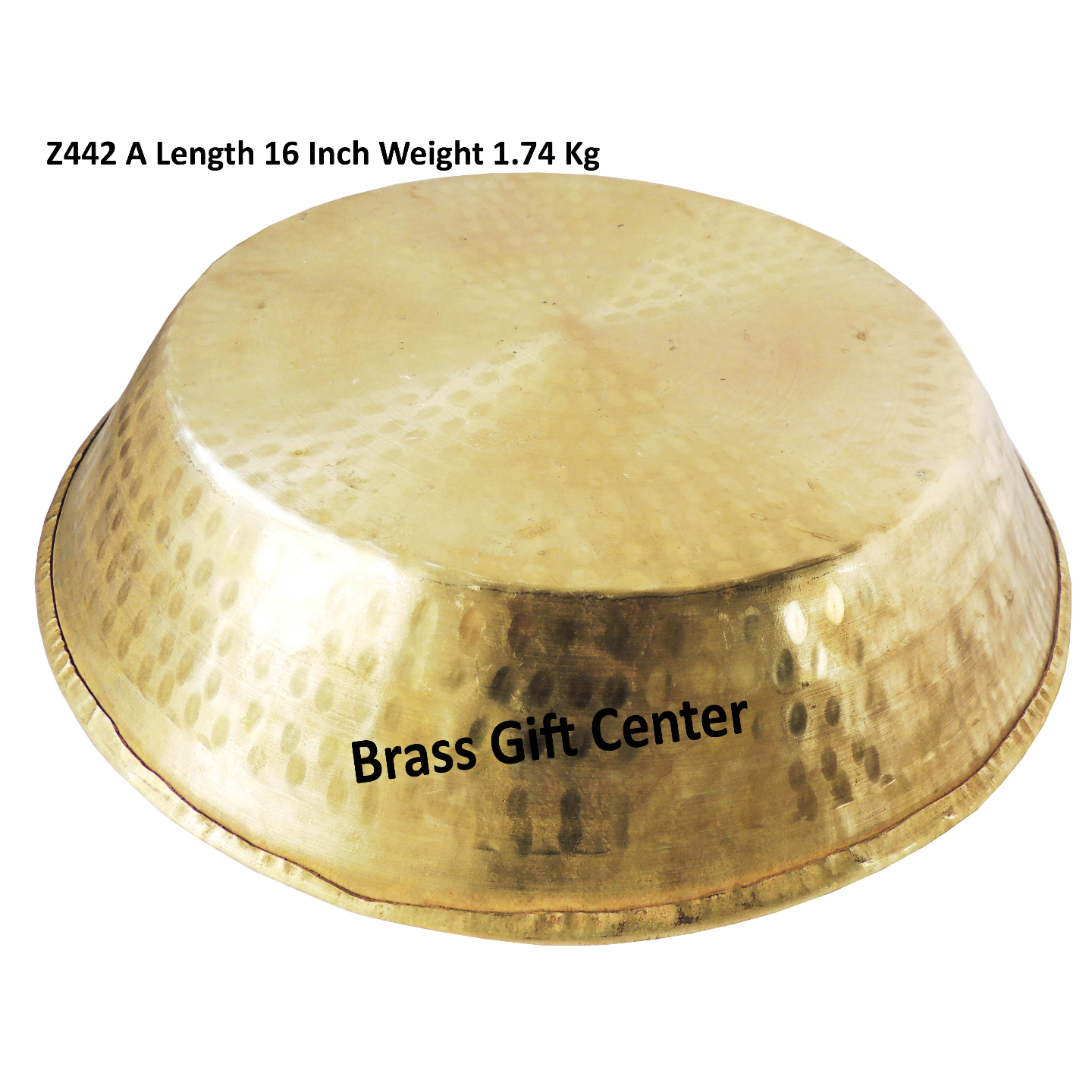 Brass Thaal With Brass Finish Diameter 16 Inch (Z442 A)