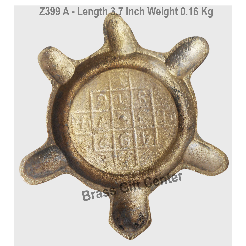Brass Showpieec Tortoise, Kachua Length 3.7 Inch (Z399 A)
