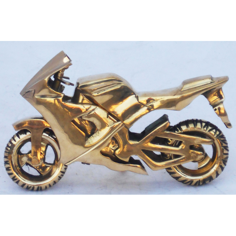 Brass Toy Bike R15 Miniature For Children Playing- 7.5*2*4.5 iInch  (Z328 D)
