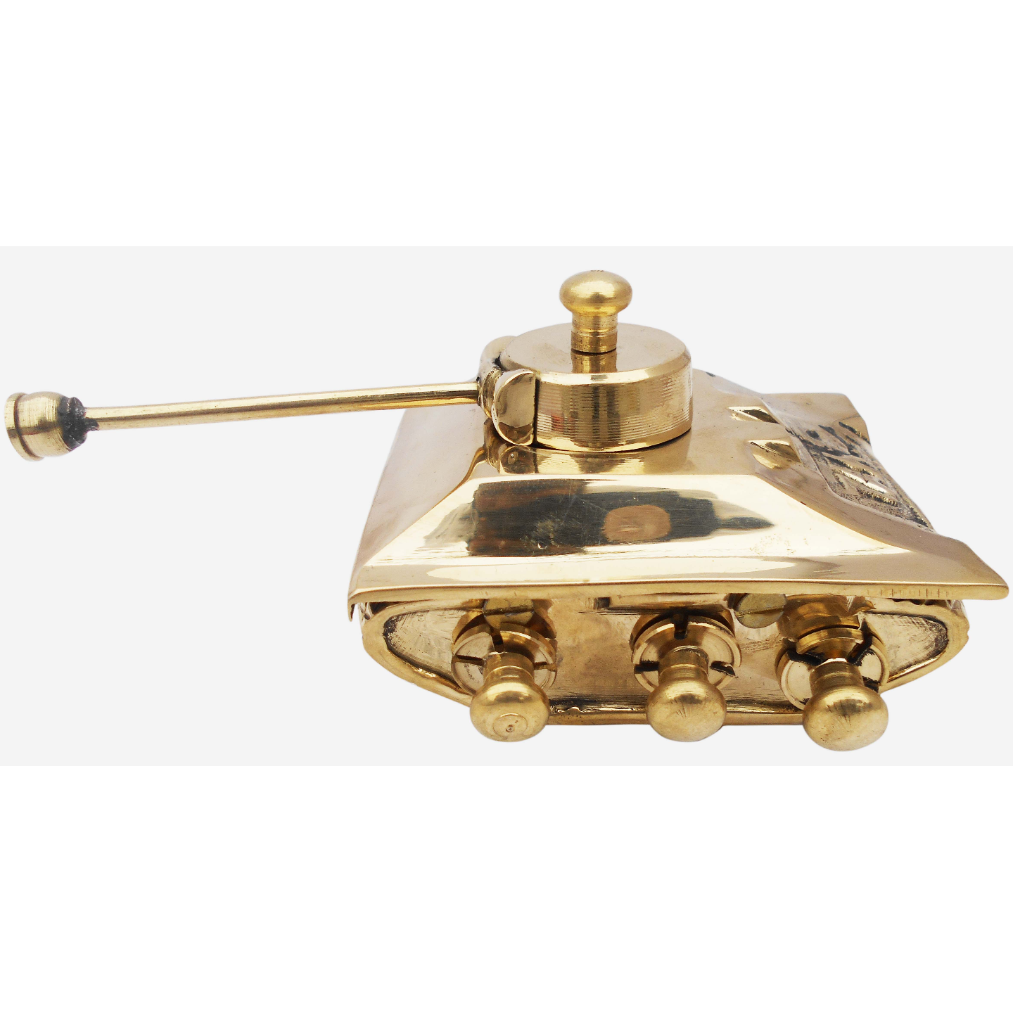 Brass Tank Toy Miniature For Children Playing- 5.5*4*3 Inch  (Z329 B)