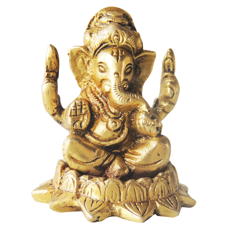 Brass Showpiece Ganesh Ji - 2.2 Inch (BS1222 G)
