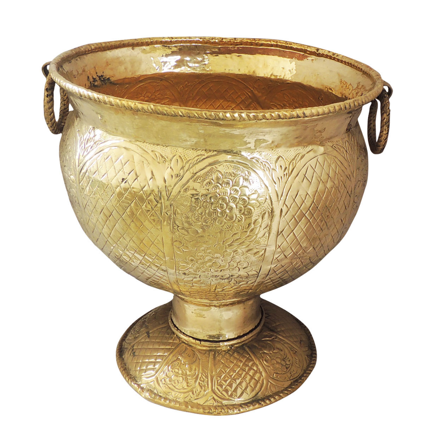 Brass Planter with Base - 20*20*22 inch (F597 J)