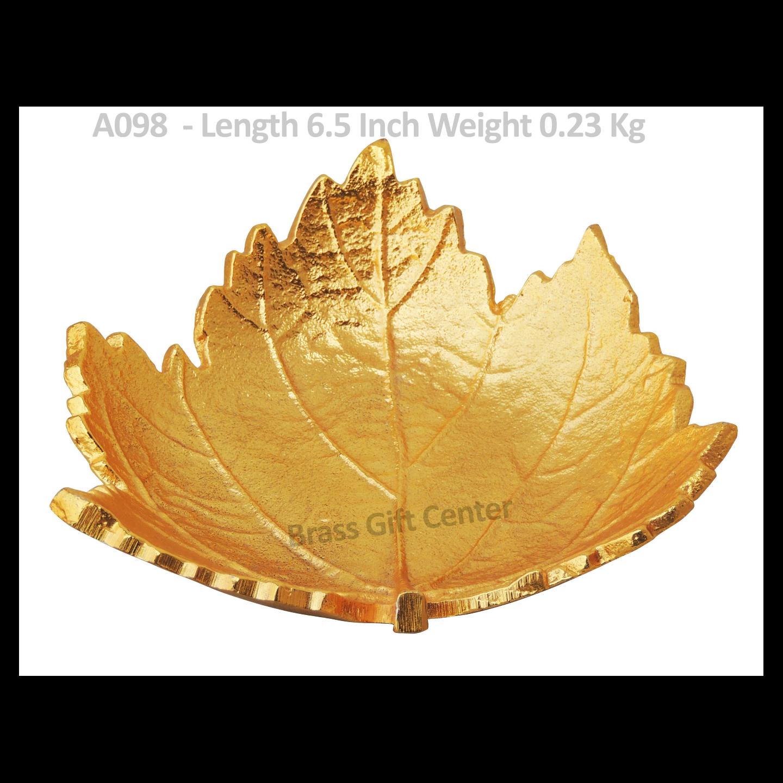 Leaf Shape Platter in Golden  - 6.5 inch (A098)