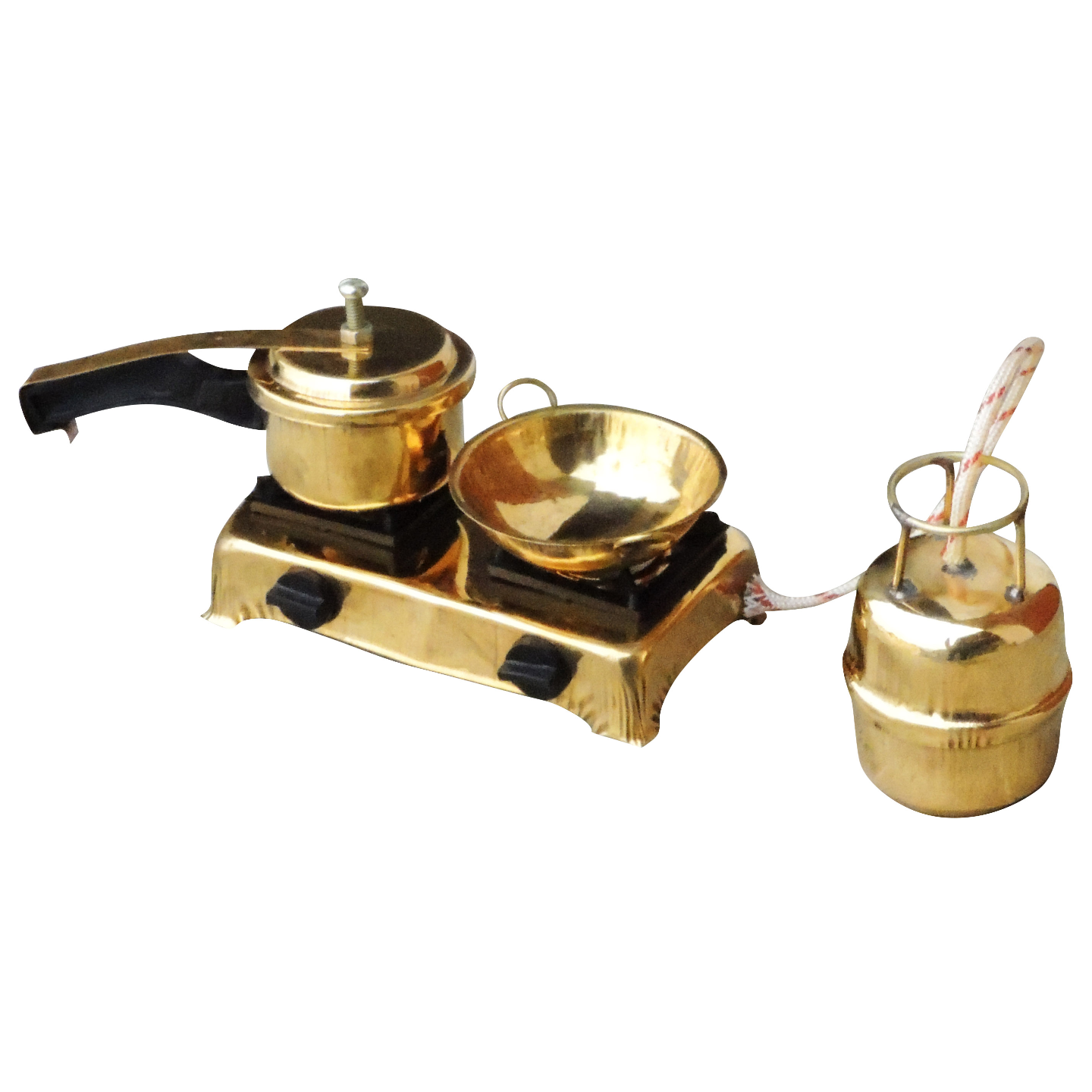 Brass Mini Miniature Kitchen Set Children Playing  (F081)