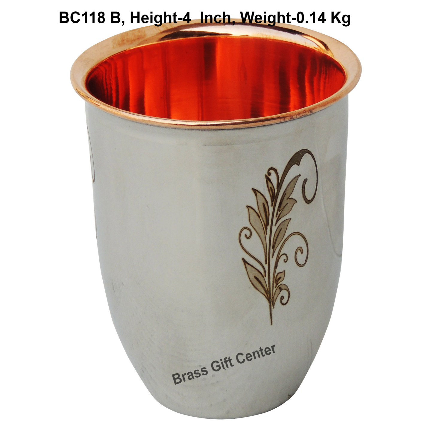 Pure Copper and Steel  Glass 240 Ml  (BC118 B)