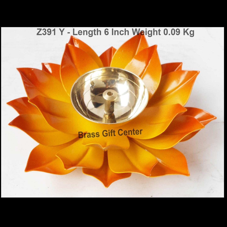 Brass And Iron Diya Deepak - 6 inch (Z391 Y)